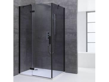 AWT Dusche Duschabtrennung LBS1505-B schwarz 150x90 links