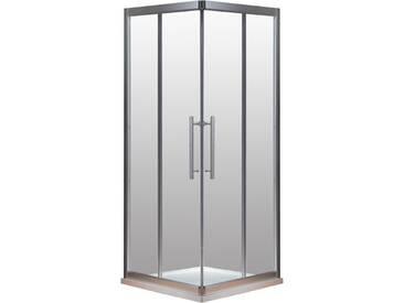 EAGO Dusche Duschabtrennung LLS1000-34 Eck mit Duschtasse 100x100