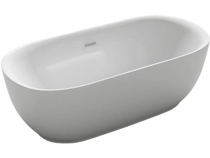 EAGO Badewanne freistehend BA102 weiß 180x85 Weiß