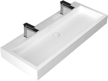 Waschbecken StoneArt LP4512-1 weiß 120x48cm glänzend