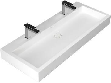 STONEART Waschbecken LP4512-1 weiß 120x48cm glänzend