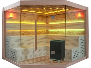 AWT Sauna B1415 XL rote Zeder 250x250 12kW BiO-Cubo