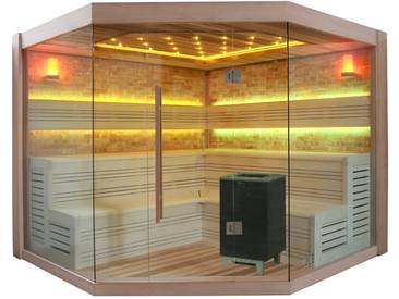 EO-SPA Sauna B1415 XL rote Zeder 250x250 12kW BiO-Cubo