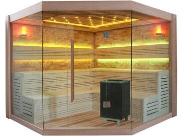 Sauna AWT B1415 XL rote Zeder 250x250 12kW BiO-Cubo