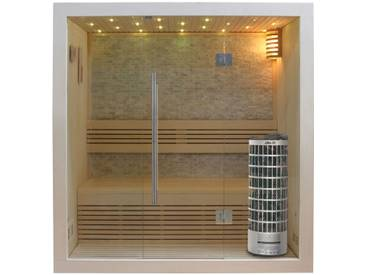 EO-SPA Sauna E1103A Pappelholz 180x105 6.8kW Cilindro