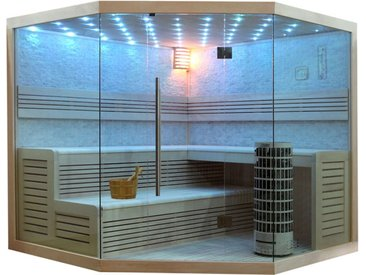 AWT Sauna E1101A Pappelholz 220x220 9kW Cilindro