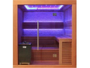 AWT Sauna E1241A rote Zeder 220x170 9kW EOS Cubo