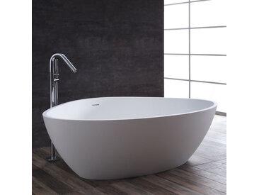 Badewanne freistehend StoneArt BS-533 weiß 180x140 matt