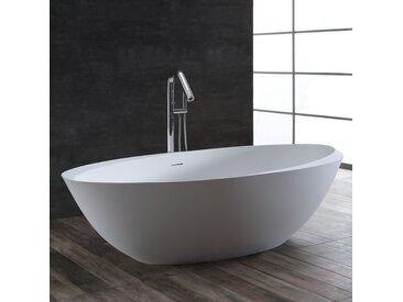 Badewanne freistehend StoneArt BS-531 weiß 190x100 matt
