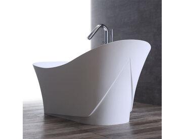 StoneArt Badewanne freistehend BS-501 weiß 165x84 glänzend