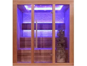 AWT Sauna E1244B rote Zeder 180x150 9kW Kivi