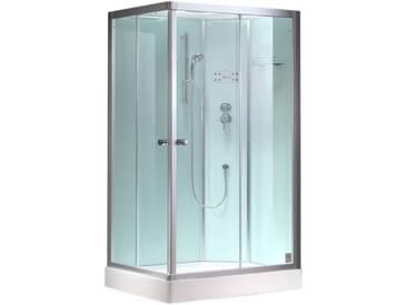 EAGO Dusche Duschabtrennung 1200-11GH weiß 120x90 rechts
