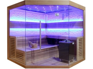 AWT Sauna E1242 XL rote Zeder 250x250 12kW EOS Cubo