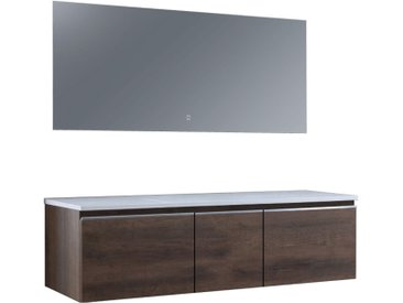 Badmöbel-Set StoneArt Milano ME-1600pro Eiche dunkel 160x45
