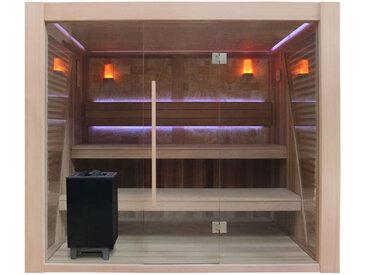 AWT Sauna B1502C rote Zeder 200x180 9kW EOS BiO-Cubo