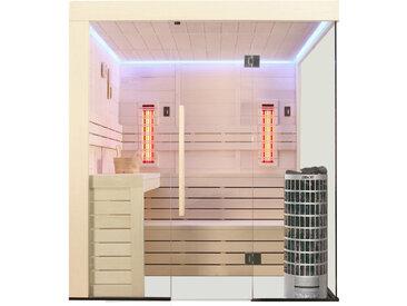 AWT Sauna E1205B-IR Pappelholz 207x198 9kW Cilindro