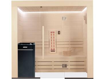 EO-SPA Sauna E1203A-IR Pappelholz 202x133 9kW Vitra