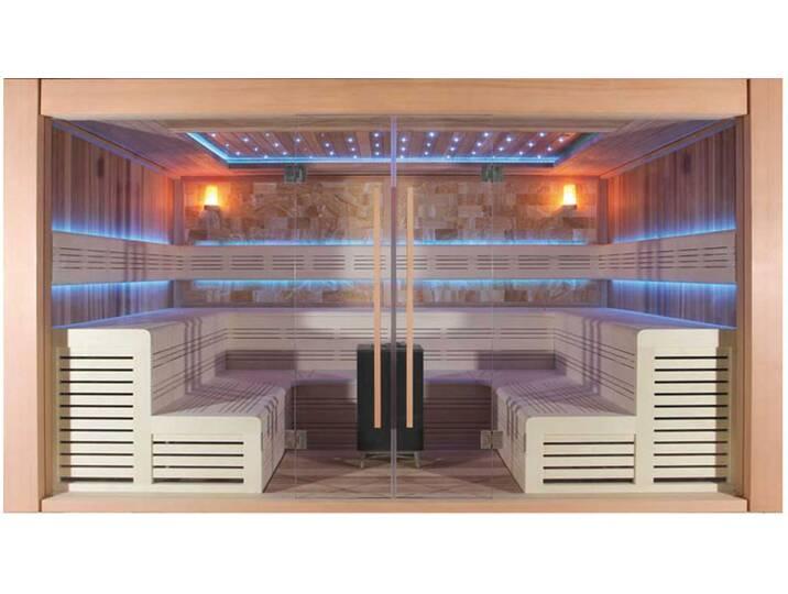 Saunen und Zubehör - Sauna AWT E1400B rote Zeder 350x300 15.8kW Vitra  - Onlineshop Moebel.de