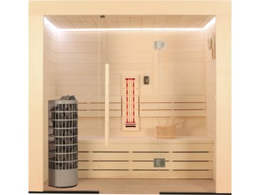 AWT Sauna E1203B-IR Pappelholz 202x103 6.8kW Cilindro