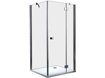 EAGO Dusche Duschabtrennung LLA1000-16 Eck mit Duschtasse 100x100 rechts