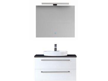 Badmöbel-Set EAGO Neapel NA-0800 weiß 80x47 AP-schwarz
