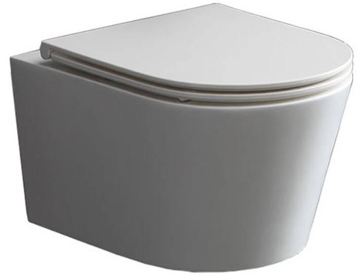 WCs und Zubehör - StoneArt WC Hänge WC TMS 507P weiß 52x38cm glänzend  - Onlineshop Moebel.de