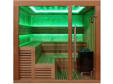 AWT Sauna E1243B rote Zeder 200x180 9kW EOS Cubo