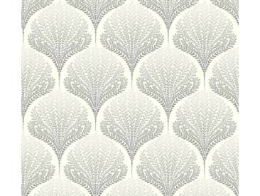 AS Creation Vliestapete Palila Creme-Grau-Weiß, Blätter, Orientalisch 363102 Tapete