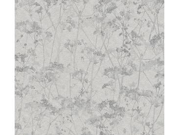 Schöner Wohnen Vliestapete Grau Blumen, Gräser, 359543 Tapete