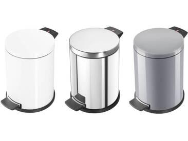 Hailo Solid M Abfallsammler mit Kunststoff Inneneimer 12 L  Edelstahl, Silber oder Weiß