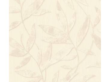 AS Creation Vliestapete Siena Grau-Beige, florales Muster, Metallic, 328807