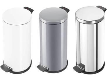Hailo Solid L Abfalleimer in Weiß, Silber oder Edelstahl  Mülleimer mit 18 L Volumen