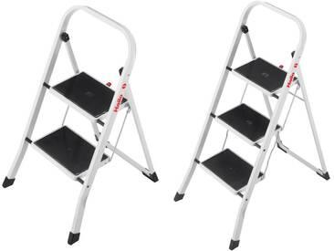 Hailo K20 2 oder 3 Stufen Stahl Klapptritt Haushalt Leiter Klappleiter