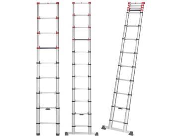 Hailo Aluminium Sicherheits-Teleskopleiter verschiedene Größen  T80 FlexLine