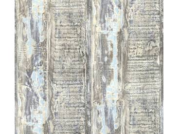 AS Creation Shabby-Holz Vliestapete Best of Wood`n Stone 2nd Edition, Blau, Tapete 354132