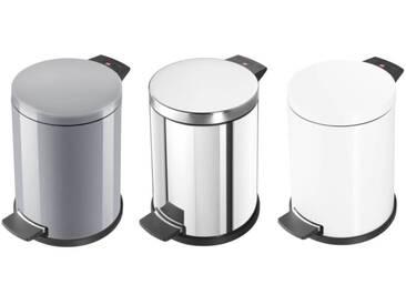 Hailo Solid M Abfalleimer mit verzinktem Inneneimer  Edelstahl, Silber oder Weiß  12 L Volumen