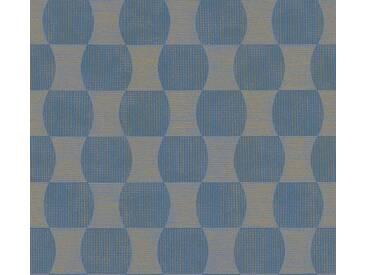 Schöner Wohnen Vliestapete Blau-Metallic abstrakt 358694 Tapete