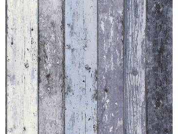 AS Creation Shabby-Holz Vliestapete Best of Wood`n Stone 2nd Edition, Blau, Tapete 855060