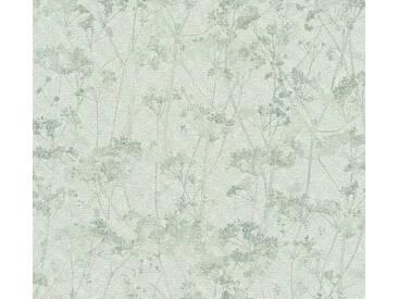 Schöner Wohnen Vliestapete Grau-Grün Blumen, Gräser, 359544 Tapete