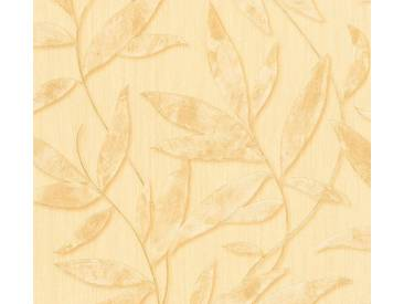 AS Creation Vliestapete Siena Beige, florales Muster, Metallic, 328803