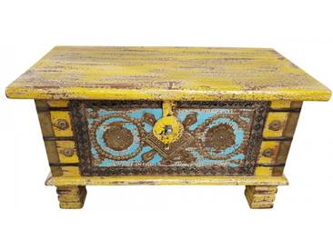 Truhe Kiste Holztruhe Box 80 Vintage Massiv Shabby Chic aus Handarbeit Unikat 7