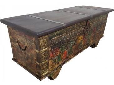 Truhe Kiste Holztruhe Vintage Massiv Box aus Altholz Antik Handarbeit Unikat 12