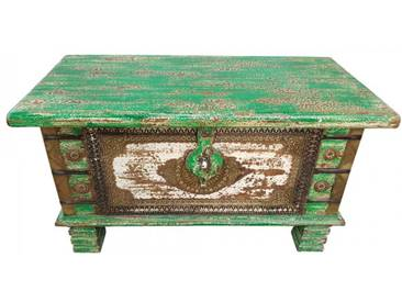 Truhe Kiste Holztruhe Box 80 Vintage Massiv Shabby Chic aus Handarbeit Unikat 8