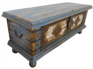 Truhe Kiste Holztruhe Vintage Massiv Box aus Altholz Antik Handarbeit Unikat 4