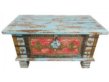 Truhe Kiste Holztruhe Box 80 Vintage Massiv Shabby Chic aus Handarbeit Unikat 4