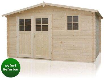 Gartenhaus Ruhepol - 4,40 x 3,40 Meter aus 28 mm Blockbohlen
