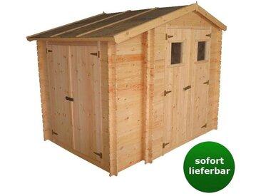 Gartenhaus Graz - 2,56 x 2,00 Meter aus 19mm Blockbohlen mit extra Lagerraum