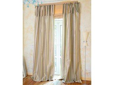 Streifenvorhang pastellfarben - 135 x 240 - bunt - Vorhang: 100 % Faux Silk, Abfütterung: 100 % Baumwolle