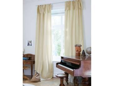Vorhang Elfenbein - Faux Silk - 285cm x 135cm - Elfenbein - Vorhang: 100 % Faux Silk / Abfütterung: 100 % Baumwolle