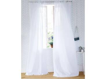 Voilevorhang weiß - 285cm x 145cm - Weiß - 100% Baumwolle